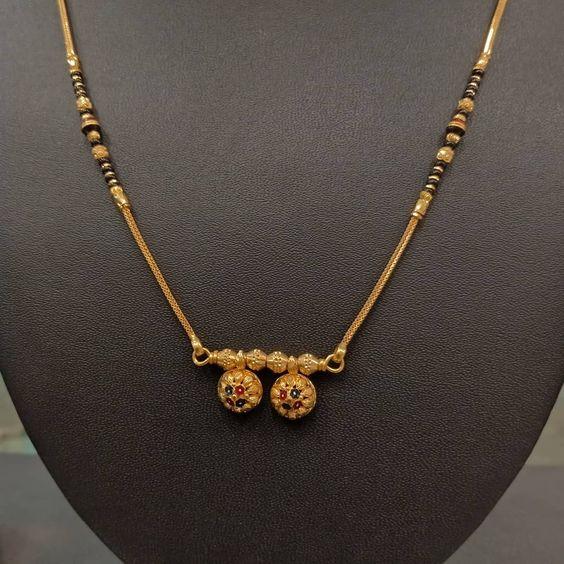 black beads work mangalsutra design2