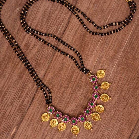black beads work mangalsutra design7