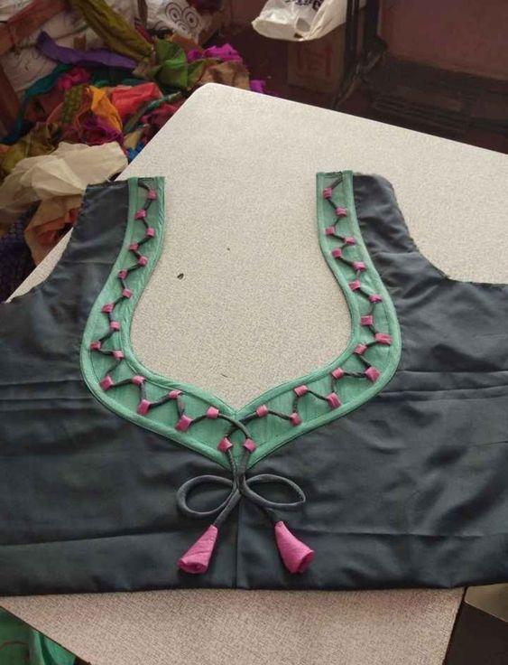 violet color simple blouse design