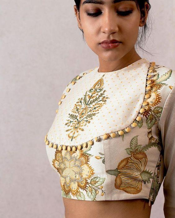 off white stylish designer blouse
