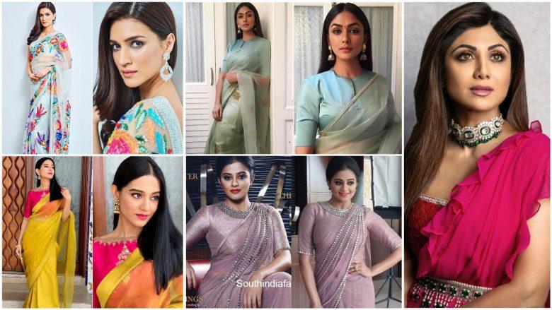 Latest bollywood designer sarees for elegant look