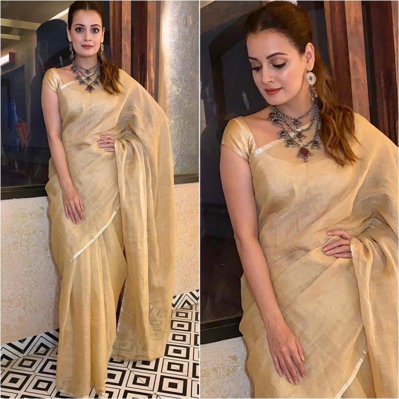 Latest bollywood designer sarees for elegant look 8