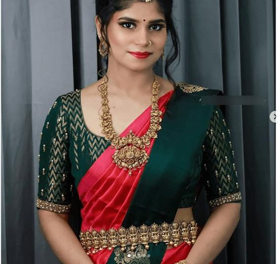 Latest bridal blouse designs for pattu or silk sarees 3
