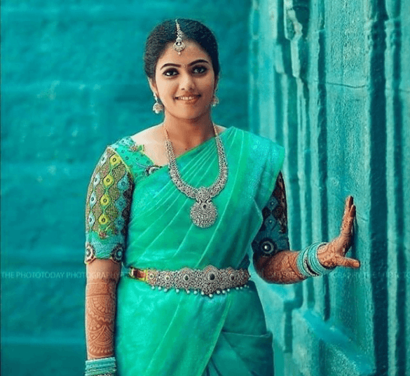 Latest bridal blouse designs for pattu or silk sarees 8