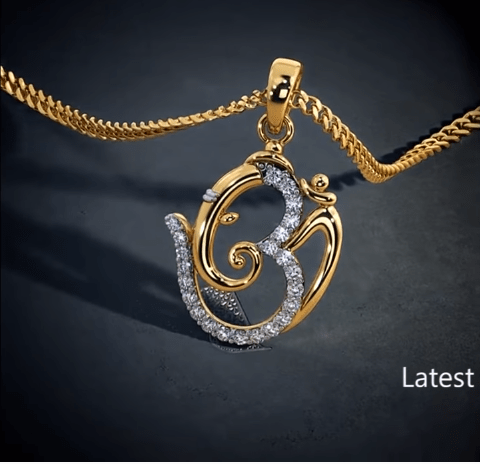Latest gold lord ganesha pendant designs 13