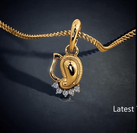 Latest gold lord ganesha pendant designs 6