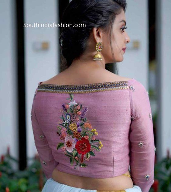 stylish blouse back neck design
