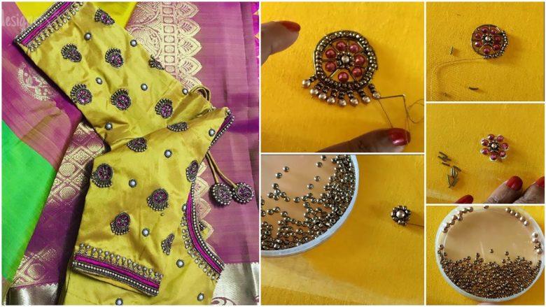 Most beautiful designer buti for blouse