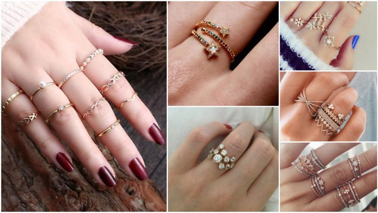 New gold ring designs for girls