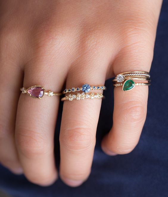 New gold ring designs for girls1