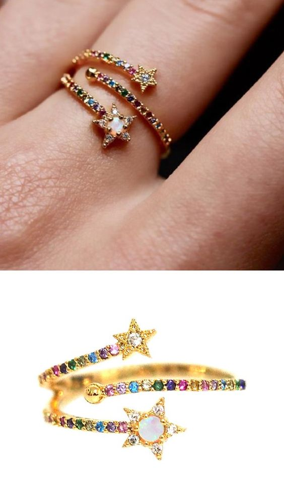 New gold ring designs for girls2