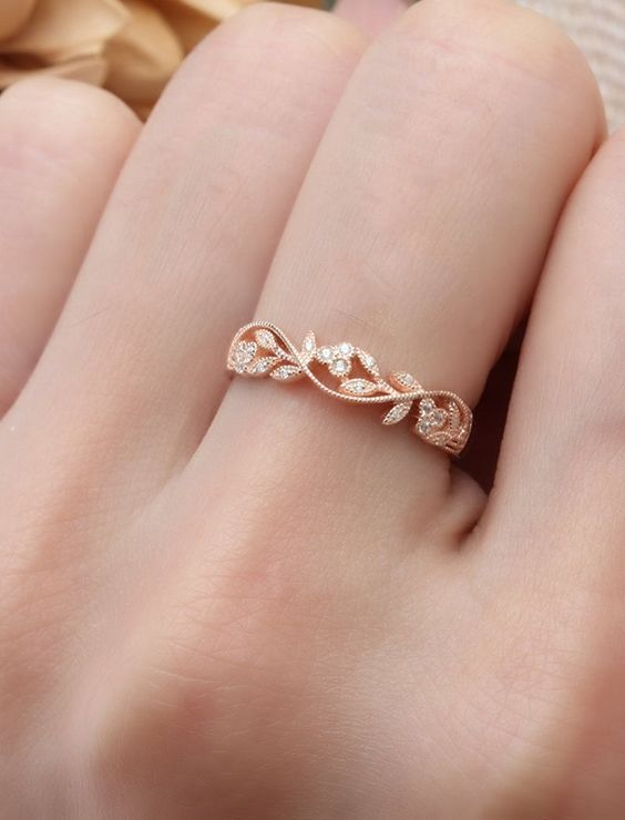 New gold ring designs for girls3
