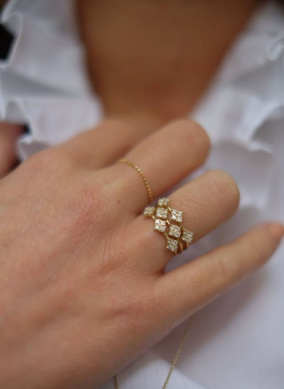 New gold ring designs for girls6