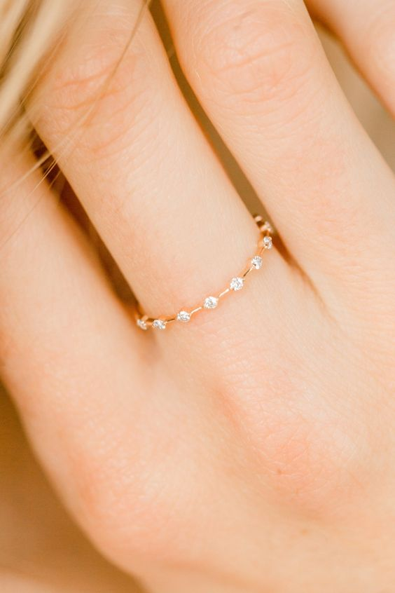 New gold ring designs for girls9
