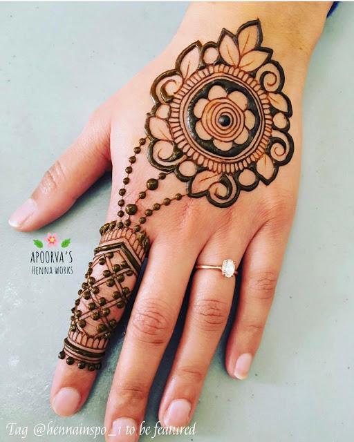 Simple arabic mehndi designs 12