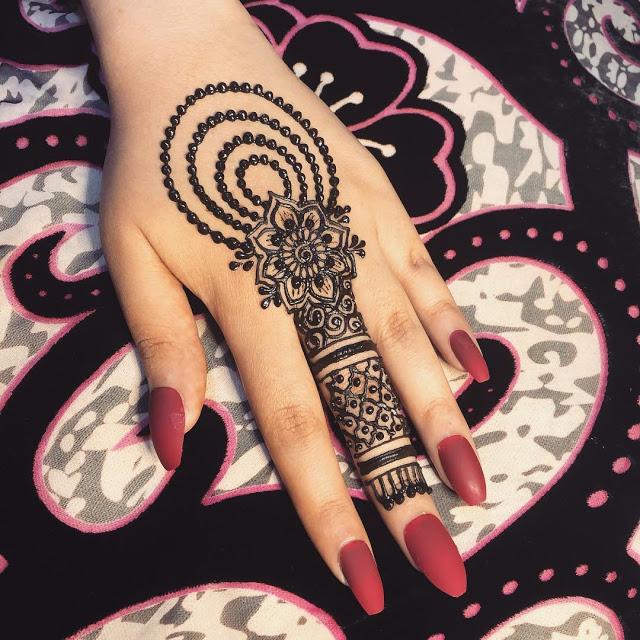 Simple arabic mehndi designs 13