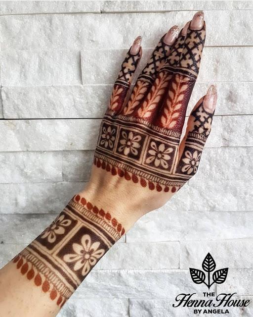 Simple arabic mehndi designs 15