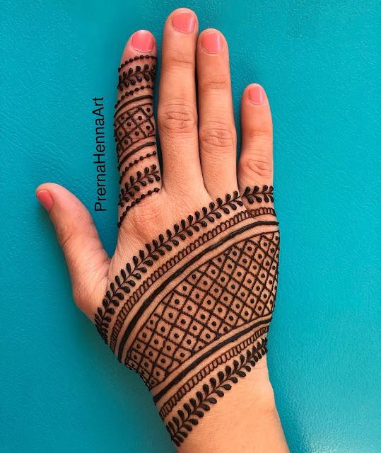 Simple arabic mehndi designs 17