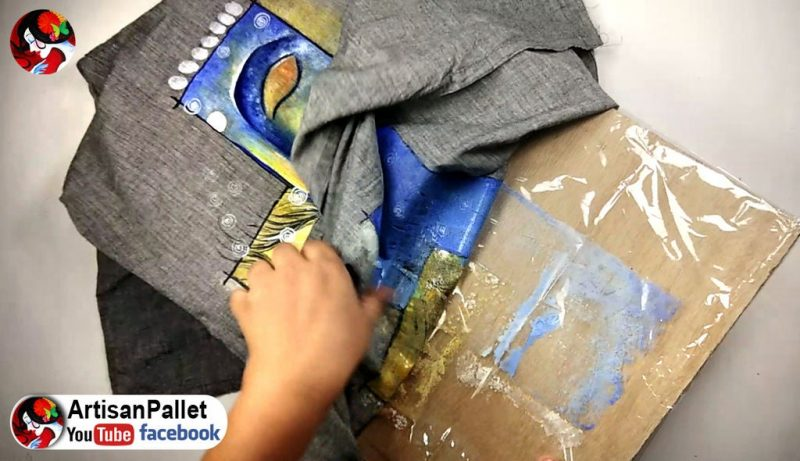Simple fabric painting on dress5