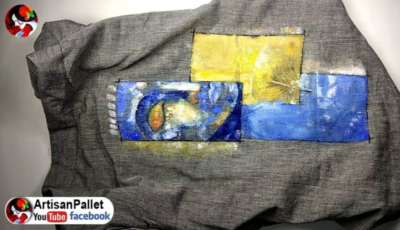 Simple fabric painting on dress4