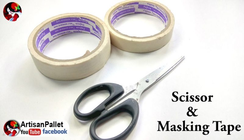 masking tape and scissors