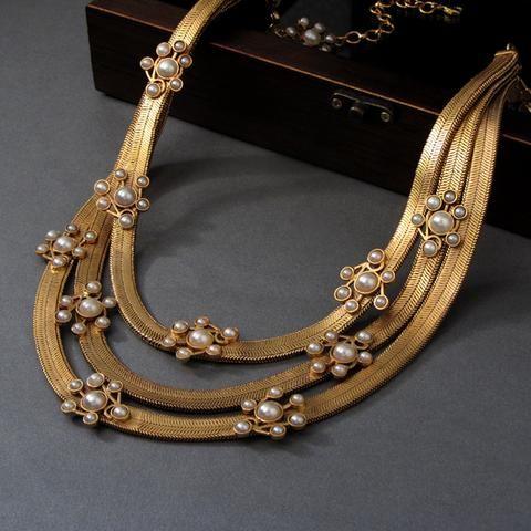 3 layered beautiful necklace design