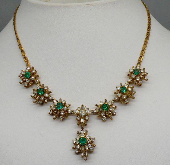 simple stone work necklace design