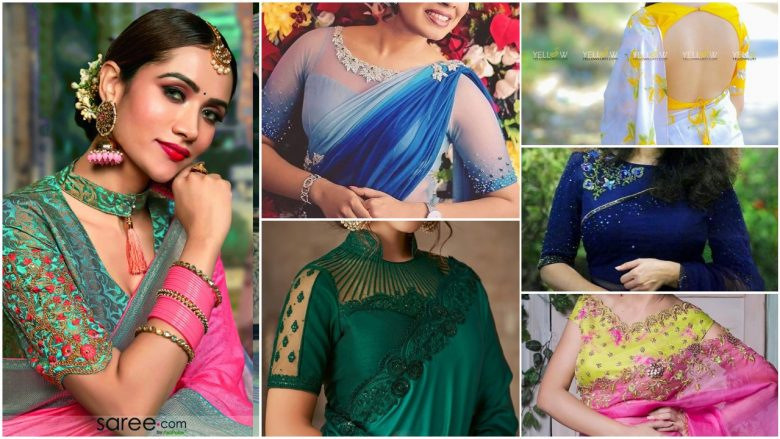 Trending silk saree blouse design