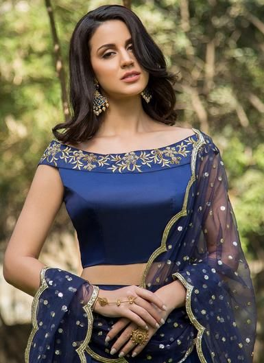 stylish blue designer wear