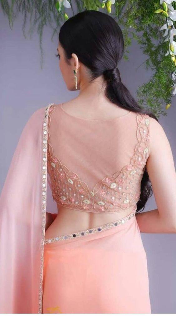 elegant rose net blouse