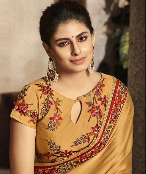 yellow blouse with embroidery design