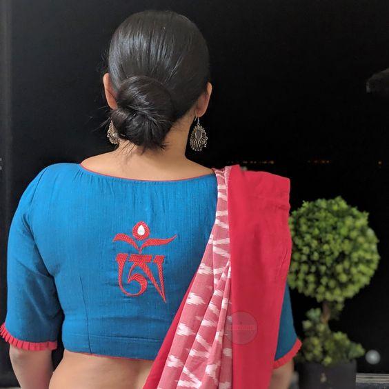 blue blouse design