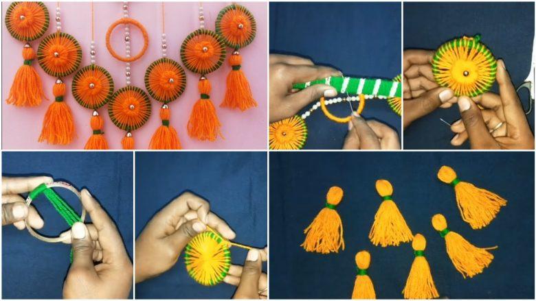 Very easy bangels and woolen wall hanging toran