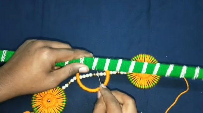 Very easy bangels and woolen wall hanging toran 18