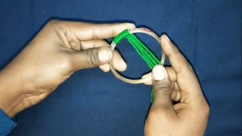 Very easy bangels and woolen wall hanging toran 2