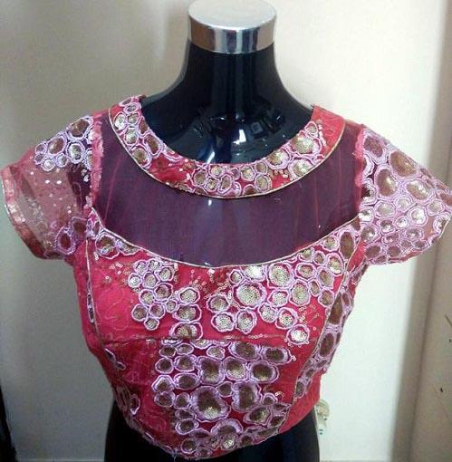 colorful designer blouse