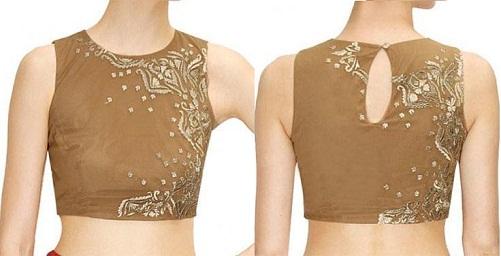 golden alluring pattern blouse