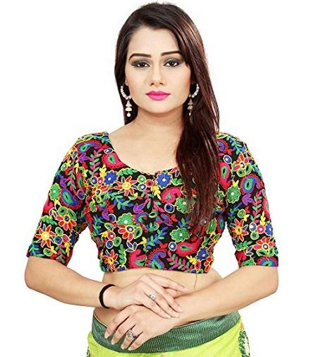 multi color floral designer blouse