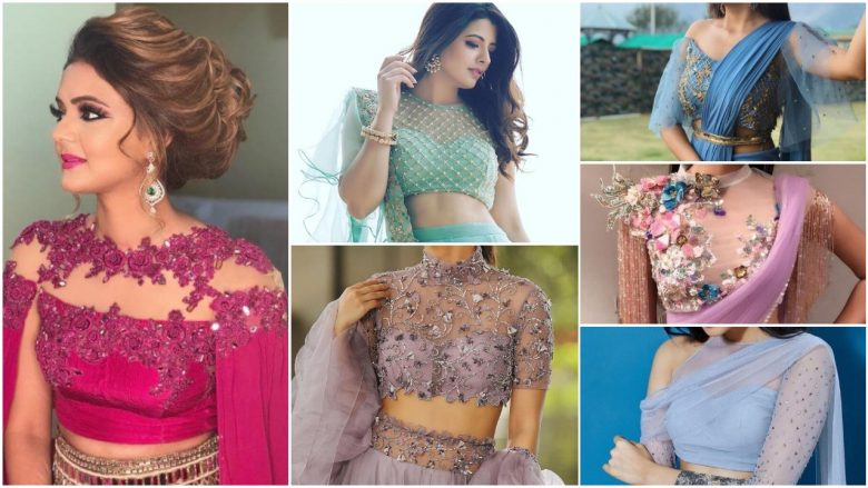 front net blouse designs for saree and lehenga