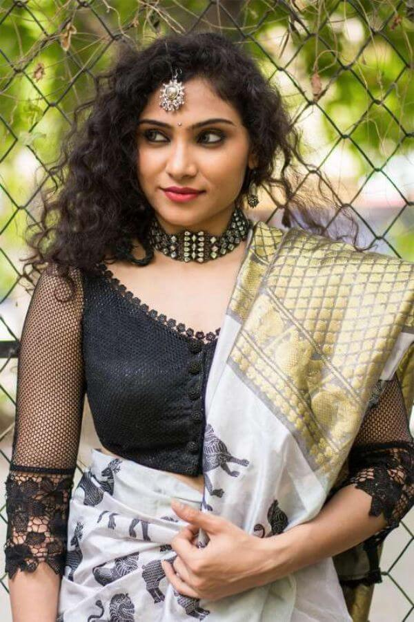 front net blouse designs for saree and lehenga 12