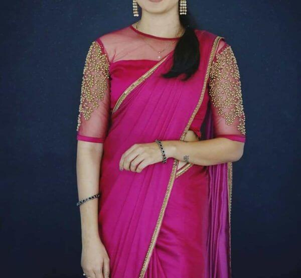 front net blouse designs for saree and lehenga 14