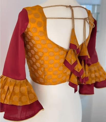 saree blouse design 7