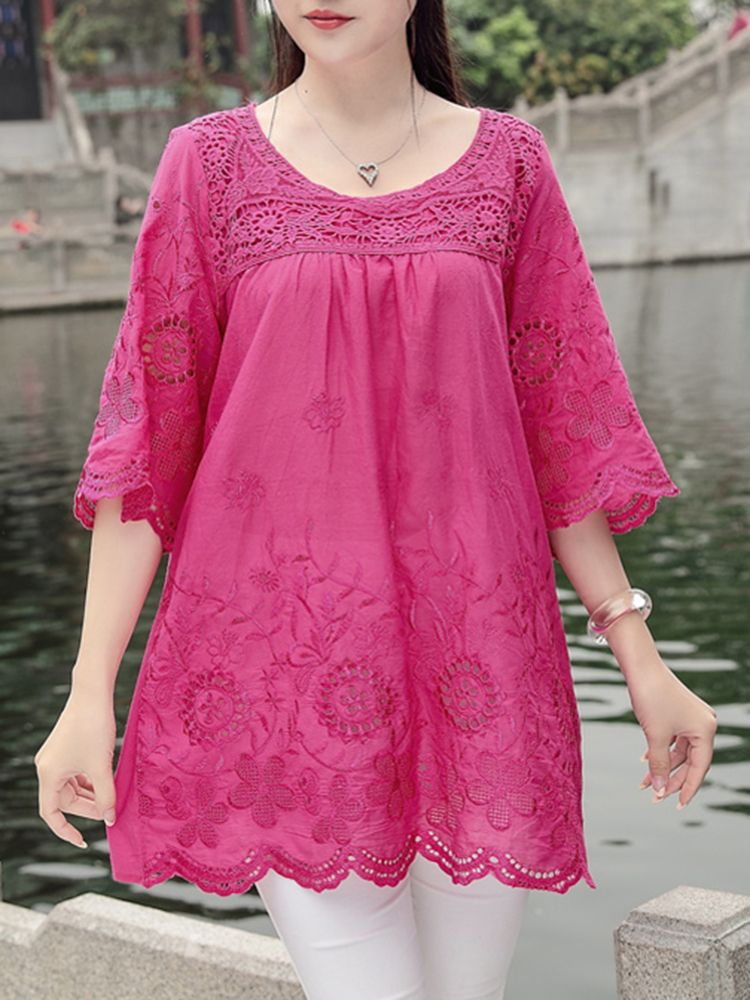 pink Beautiful and Stylish Kurtis for Jeans