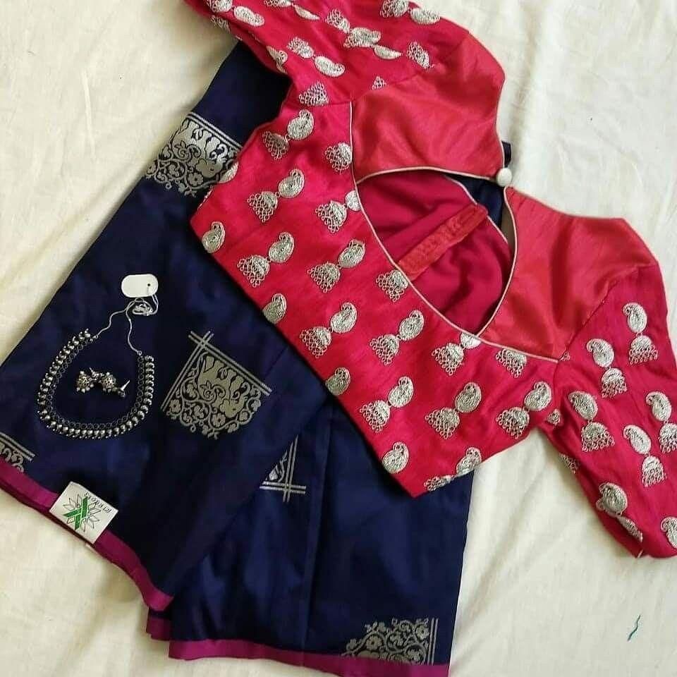 beautiful jumka design blouse