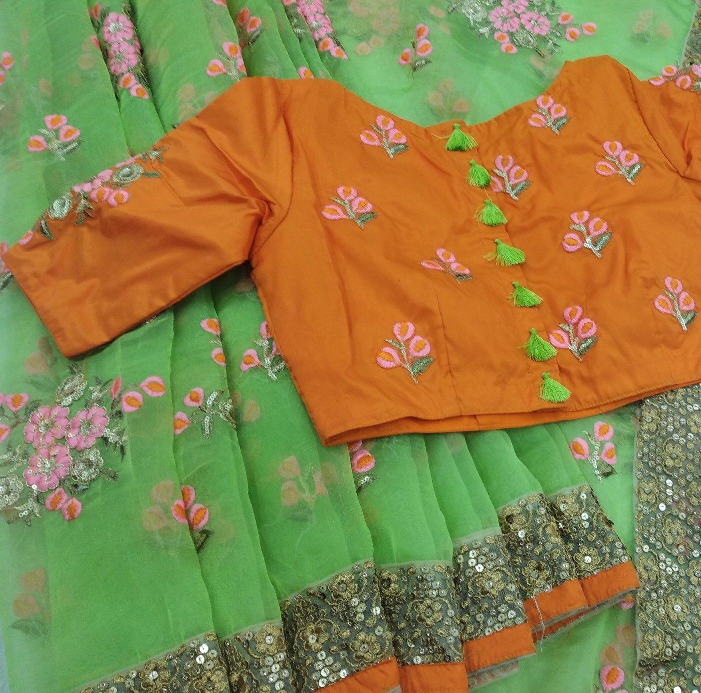 simple orange color blouse