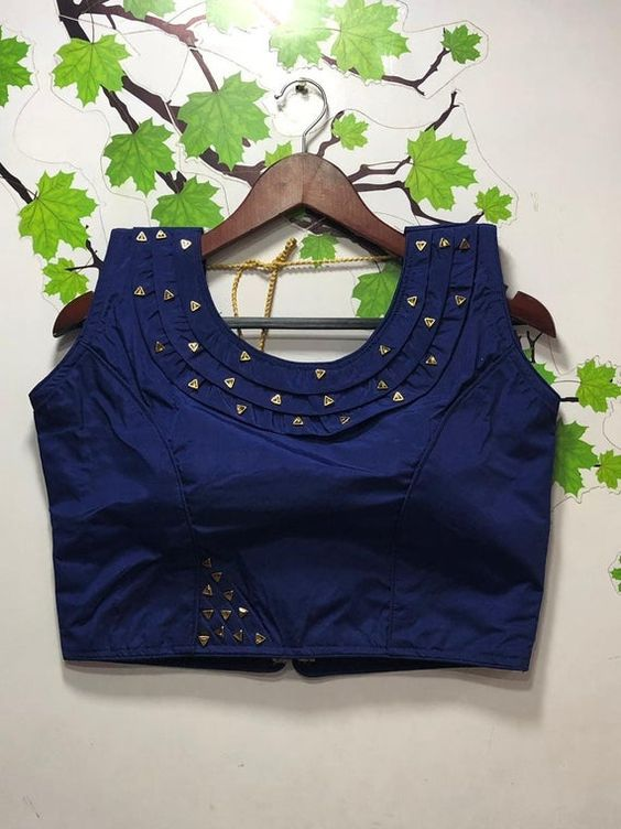blue blouse with princess cutting