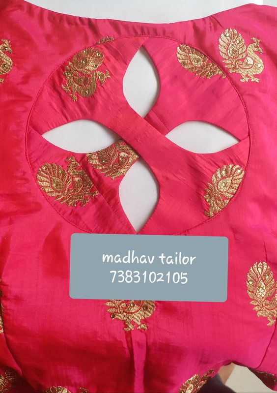 red blouse design