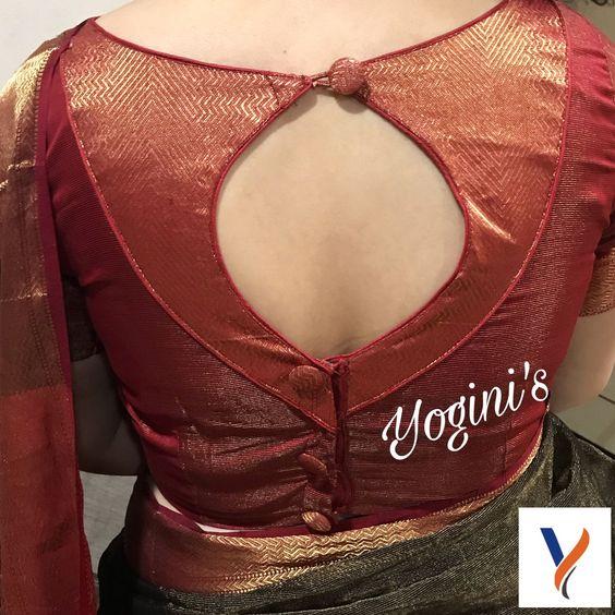 silk saree blouse design