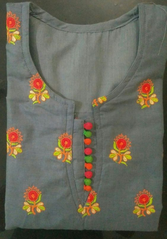 ash color kurti design