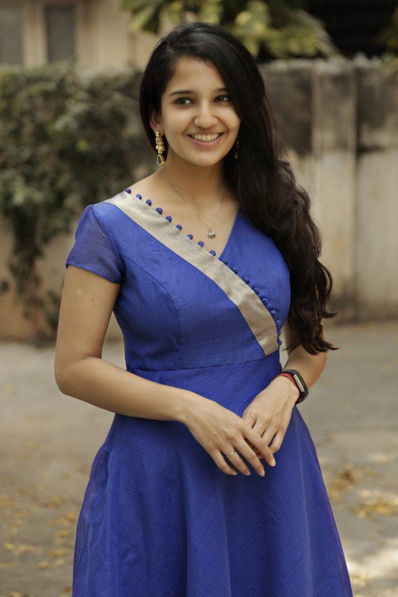 blue churidar design